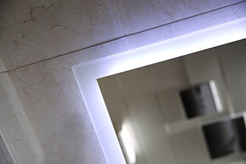 Badspiegel satiniert – Badezimmerspiegel 90 x 60 cm - 4