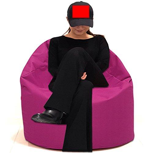 Sitzbag Sitzsack Größe S-M-L-XL-XXL-XXXL mit Styropor Füllung - In & Outdoor Größen - Bean Bag Sitzkissen Bodenkissen Hocker Kinder Sitzsäcke Möbel Kissen Sessel Sofa (XXXL - ca.88cm, Pinkrosa)