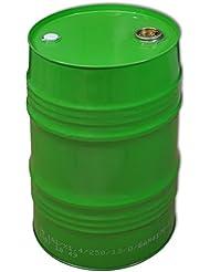 Barril de metal, tonel metálico, cubo, tambor, verde, 62 L (23027)