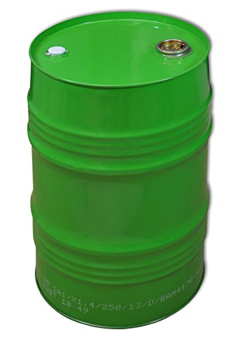 Barrique 62 L, fusto, tamburo barile metallico, verde (23027)