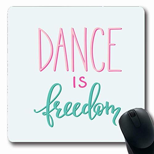 "Mousepads Night Ballet Dance Freiheit Zitat Schriftzug Studio Style Text Class Classic Club Cooles Design Tänzer Längliche Form rutschfeste Gaming Mouse Pad Gummi Längliche Matte,Gummimatte 11,8""x 9,"