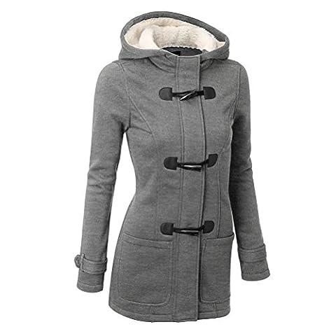 Zhhlaixing Winter Femmes Ladies Thicken Warm Hooded Coat Long Jacket Overcoat Outwear
