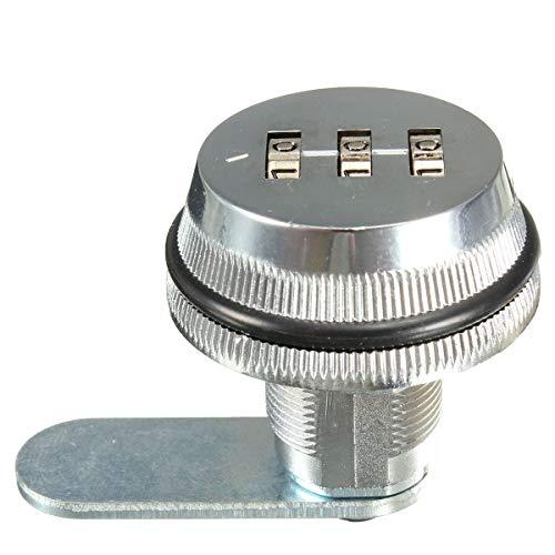 Zink Kombination (Kombination Cam Lock Zink Legierung Passwort Codeschloss für Briefkasten Unterschrank Tür (schwarz/silber) silber)