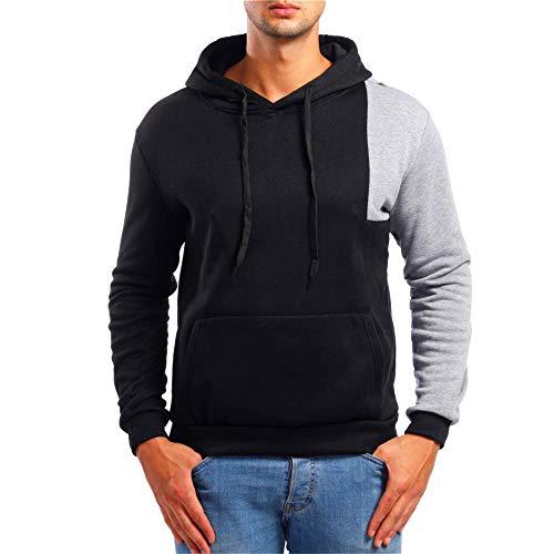 Kapuzenpullover Herren Briskorry Männer Herbst Winter Hoodie Sweatshirt Strickpullover Tasche Sweatjacke Winterpullover Mantel Outwear