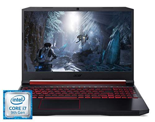 Acer Nitro 5 (AN515-54-73V1) 39,6 cm (15,6 Zoll Full-HD IPS 120 Hz matt) Gaming Notebook (Intel Core i7-9750H, 16 GB RAM, 1.000 GB PCIe SSD, NVIDIA GeForce GTX 1660Ti, Win 10 Home) schwarz/rot