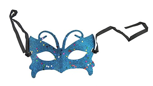 Blättern Masquerade Ball Fancy Kleid Eye Maske (Black Glamour Maske)
