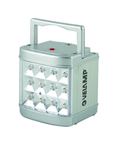 Velamp IR116LED Lampe LED Portative Rechargeable Finition Alu 0,7 W, anti black-out