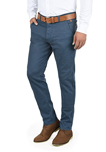 Blend Kainz Herren Chino Hose Stoffhose Aus Stretch-Material Regular Fit, Größe:W34/34, Farbe:Ensign Blue (70260)