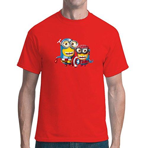 roes cooles unisex Fun Shirt - Rot XXL (Blockbuster Kostüm)