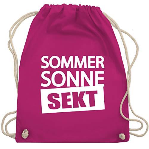 Festival Turnbeutel - Sommer Sonne Sekt - Unisize - Fuchsia - WM110 - Turnbeutel & Gym Bag