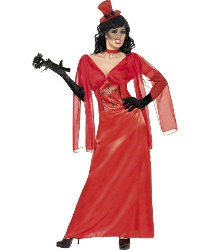 Draculas Drakula Braut Halloween Kostüm Drakulakostüm Gr. 40/42 (M), 44/46 (L), Größe:L