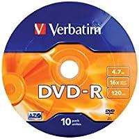 Verbatim DVD-R Matt Silver 16 x 4.7GB DVD-R 10pieza(s) - DVD+RW vírgenes (4,7 GB, DVD-R, 10 pieza(s), 120 mm, 16x, Eje)