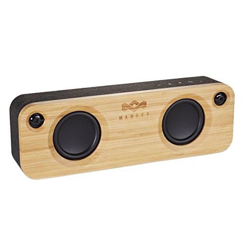 House of Marley Get Together - tragbare Bluetooth Lautsprecherbox, kabellose Verbindung, Mikrofon, Raumfüllender Sound, 3.5mm Aux-In, USB Port, 10 Std. Akkulaufzeit - Black