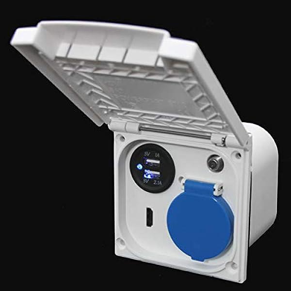 Toma de corriente multifunción para exteriores, 220 V, 230 V ...