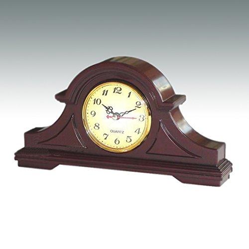 Kaminuhr Quartz Kamin Uhr Tischuhr Quartzuhr Standuhr Buffetuhr in Braun