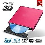 Lecteur CD/DVD Externe, Externe Graveur DVD Blu Ray USB 3.0 Bluray 3D, Portable...