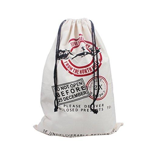 (Extra große Weihnachtssack Santa Säcke mit Kordelzug für Weihnachtsgeschenke Stocking Stuffers Urlaub Geschenke & Party Favors, personalisierte Namen Baumwolle Leinwand 19,69