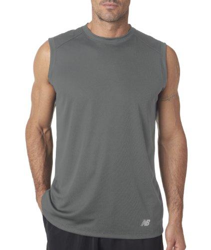 New Balance - Maglietta sportiva - Asimmetrico -  uomo grigio - ghiaia