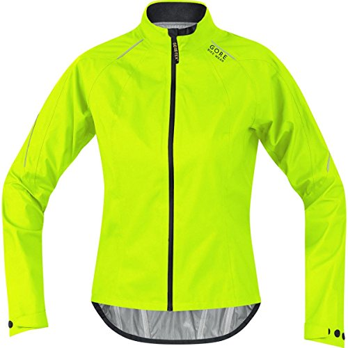 GORE BIKE WEAR Damen Rennrad-Jacke, Leicht, GORE-TEX Active, POWER LADY GT AS Jacket, Größe: 40, Neon Gelb/Schwarz, JGPOWL (Womens Cycle Jacken)