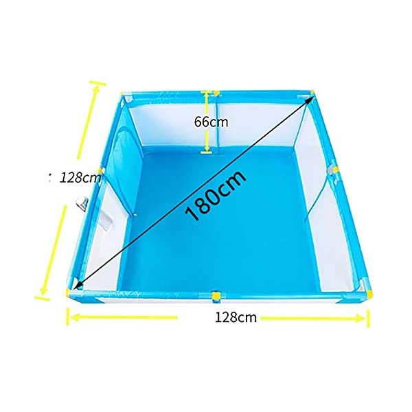 Protable Baby Game Playpen, Large Blue Boys Safety Play Center Yard, 128×128×66cm (Size : Playpen) Playpens  2