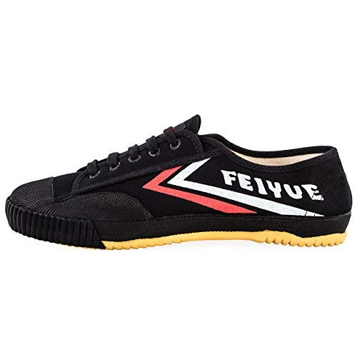 wu designs Feiyue Sneaker - Kampfkunst Sport Parkour Wushu Schuhe Schwarz 39