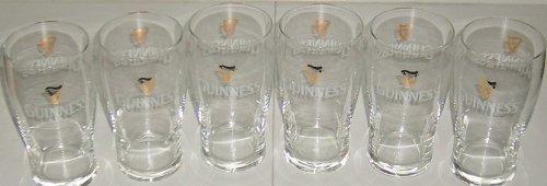 6 Stück Guinness Tulip Gläser 0,4l