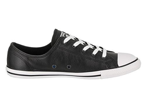 Converse - Dainty Leath Ox, Sneaker basse Donna Noir