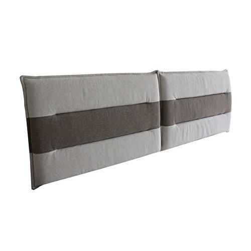 Liangjun capezzale cuscini pad lombare cuscino supporto grande indietro pad cotone spugna schienale pelle-amichevole elevata resilienza morbido lavabile con / no testata letto matrimoniale, 5 taglie ( dimensioni : no headboard-180x60x5cm )