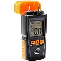 Humidimetre Bois Mesure d'Appareil d'Humidité Détecteur humidite LCD Digtal Testeur d'Humidité avec 2 Broches 2 Pile 1.5V 4 Groupe en Bois Galibré pour sélectionner