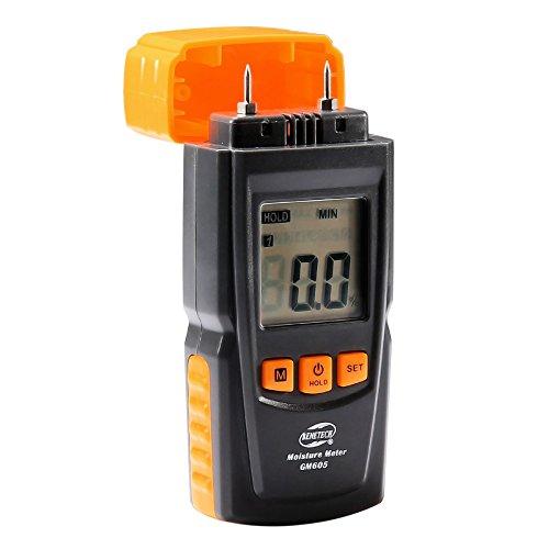 Feuchtigkeitsmessgeräte LBELL Handheld Feuchtemessgerät mit LCD-Display 2-Pin-Sensor Digital Holzfeuchtemessgerät Detektor für Holz Brennholz Baustoffe