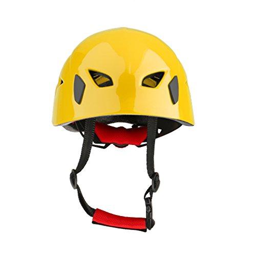 Generic sicurezza casco arrampicata kayak rappel sci pattino bici biciclette moto protettore salvataggio elmetto caschi - giallo