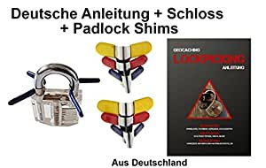 lockpicking padlock shims mit deutscher lockpicking anleitung aus deutschland ohne. Black Bedroom Furniture Sets. Home Design Ideas