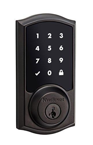 Kwikset 99150-002écran tactile électronique UL pêne avec Smart Key, Nickel satiné, 99150-003