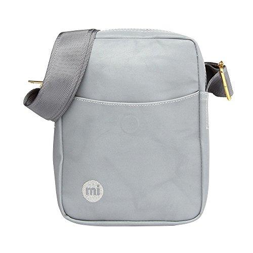 Mi-Pac Unisex bolso de bandolera reflective gris