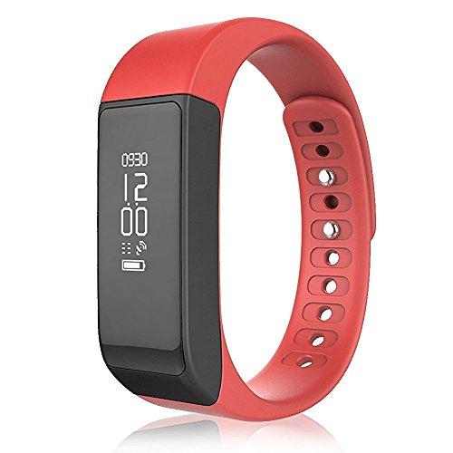 YUNTAB Sport Smartband 0.91 pouces OLED I5 plus Bracelet Connecté Smartband de Sport Trackers d'activité Fitness Podomètre Message ou Appel notification pour Smartphone Android et Apple iOS iPhone Blu...