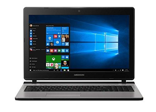 MEDION AKOYA E6432 MD 99970 39,6 cm (15,6 Zoll mattes HD Display) Notebook (Intel Core i3-6157U, 6GB RAM, 1TB HDD, 128GB SSD, Intel Iris Grafik, DVD, Win 10 Home) silber