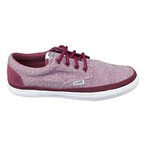 Nouvelles chaussures dJINNS chaussures modèle nICE en différents coloris tendance et en vogue - OXFORDDOTS-RED