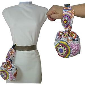 Handtasche oder Gürtel, MANDALA. Ideal zum Wandern oder Tanzen. Waschbar exklusiv und patentiert. Besser und bequemer als Bund.