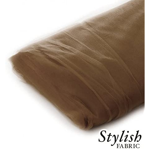 Camel Tulle Fabric - 40 Yards Per Bolt by Stylishfabric - Tessuto Di Tulle Bolt