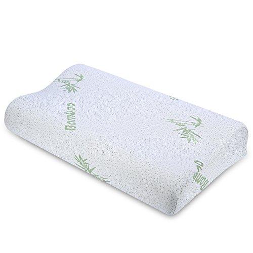 Memory Schaum Kissen Für Schlafen, Kontur Nackenstütze Kissen Protecing Nackenkissen Bambus Faser Langsam Rebound (Kontur-massage-kissen)