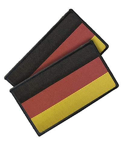 TACWRK Patch Deutschlandflagge mit Klettrückseite gewebt Doppelpack 58 x 30 mm (Mit Abzeichen)