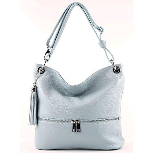 Popular Y Barato modamoda de -. Ital signore borsa in pelle tracolla borsa tracolla in pelle borsa T143 Eisblau Venta Barata De Precio Increíble Tienda De Oferta eSe2g8