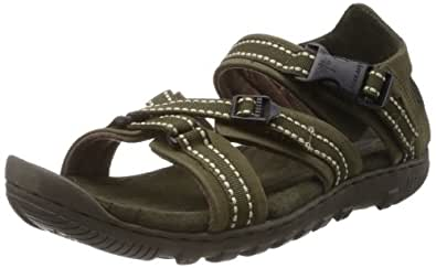Woodland Men's Olive Green Leather Sandals and Floaters - 6 UK/India (40 EU)
