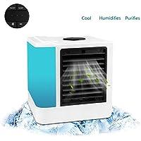 Lovego Climatiseur 3 en 1 Mini Climatiseur Portable Climatiseur Purificateur Humidificateur 7 LED Couleurs pour Camping|Maison|Bureau