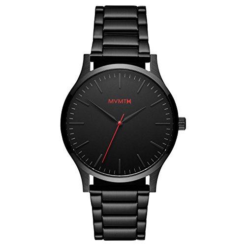 MVMT Herren Analog Quarz Uhr mit Edelstahl Armband D-MT01-BL