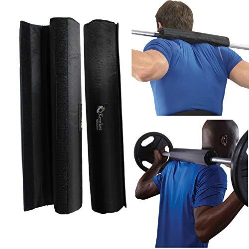 Almohadilla protectora para barra de pesas para el cuello y los hombros, negro