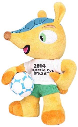Fuleco 17cm Ball unter dem Arm - offizielles Maskottchen der Weltmeisterschaft 2014