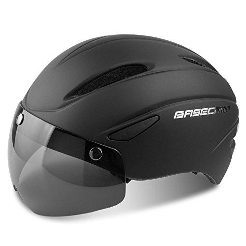 A-best casco da bici,certificato ce, casco da bici con occhiali magnetici staccabili visiera shield for men women casco da bicicletta mountain & road regolabile protezione da adulti per la sicurezza