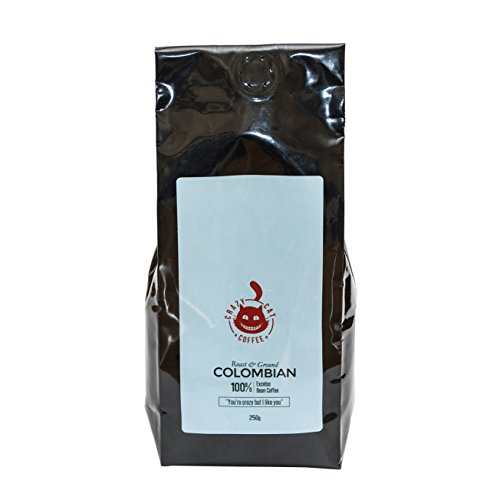 New-Ground-Colombian-Coffee-by-Crazy-Cat-Coffee-Non-Bitter-Coffee-Medium-Strength-Full-Flavoured-Roasted-and-Ground-to-Perfection-250g