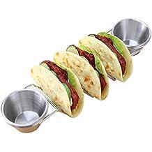 Beatie Salsa mexicana del soporte de la comida del acero inoxidable con las tazas, cada